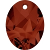 Swarovski Pendant 6911 Kaputt Oval 36mm Red Magma Crystal